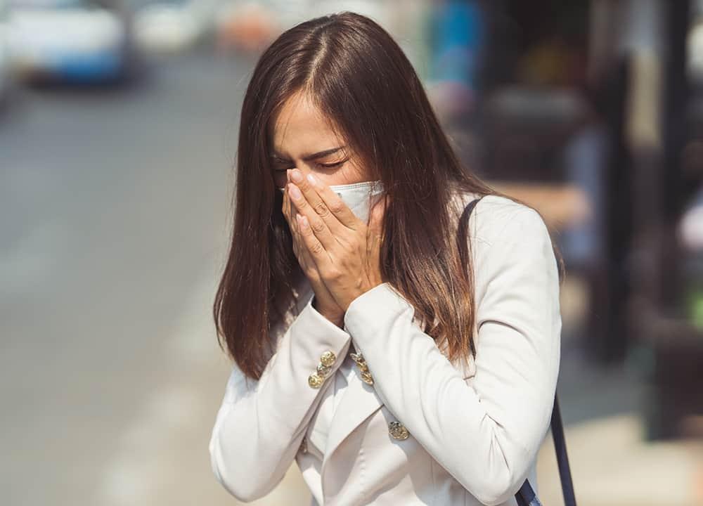 Grippesymtome Husten Erkältung Coronavirus